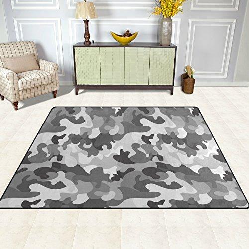 Camo-raum-dekor (doshine Bereich Teppiche Matte Teppich 4'X5', Camo Camouflage Abstrakt Polyester rutschfest Wohnzimmer Esszimmer Schlafzimmer Teppich Eingang Fußmatte Home Decor, multi, 5'x7')