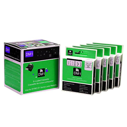 great-quality-black-on-white-label-tape-12mm-compatible-for-dymo-d1-45013-labelmanager
