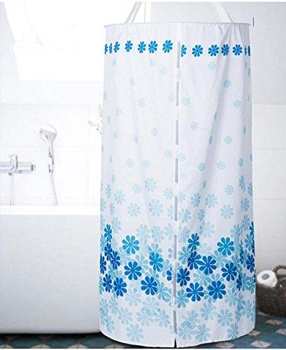 Duschvorhang Runde Polyester Wärmedämmung verdickte doppelte Reißverschluss-Hanging (D100 * L200cm)