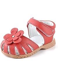 Huhua-Baby Sandal Sandals for Boys, Sandali Bambini Rosa Hot rosa, Nero (Nero), 13 EU