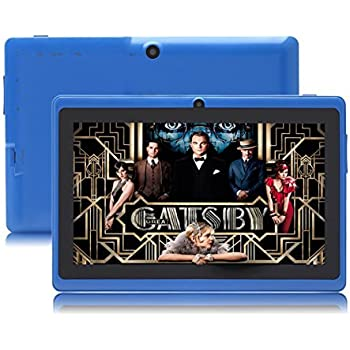 JYJ 7 Pollici Google Android Tablet PC 4.2.2 8GB WiFi Dual Core Doppia Fotocamera Touch Screen Capacitivo Allwinner A23 1.5GHz 512MB DDR3 Blu