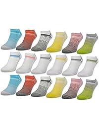 """'6ou 12paires de chaussettes sneaker femme """"Bonne Humeur coton–36349"""