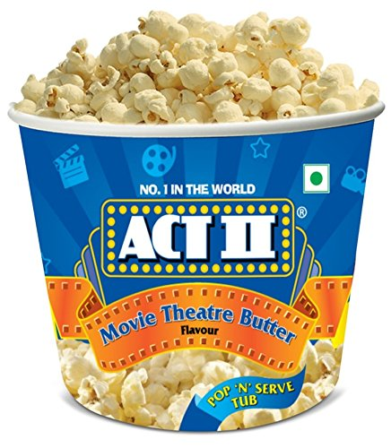 Act II Microwave Popcorn Tub, Movie Theatre Butter, 130g