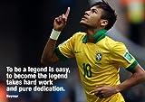 Salopian Sales 3 Poster/Druck Neymar aus England bei der