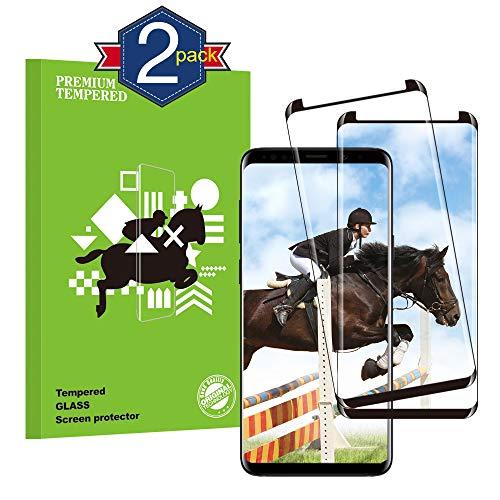 LuLuYa Galaxy S8 Panzerglas Schutzfolie, Qualität 3D Gehärteter Glas panzerfolie [2 Stück] [HD klar] [Anti Fingerabdruck] [Blasenfrei] [Anti-Kratzen] 3D Displayschutzfolie Folie für Samsung Galaxy S8