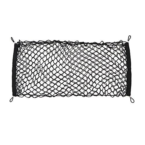 ONEVER Auto-Kofferraum hinten Gepäcknetz Lagerung Netztasche elastisches Nylon Pocket-Organizer mit Haken 19,7 * 9.8'
