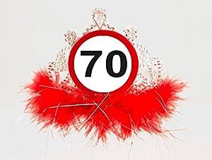 CREATIVE Diadema señal de límite de velocidad - 70 años