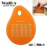 Generic rojo: walfos Pot limpieza cuenco rasqueta de silicona (disponible para colgar Muticolor crema espátula hornear herramienta de conversión de unidad de medición