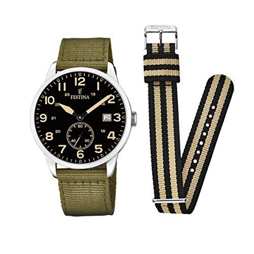 Festina Unisex Adult Analogue Classic Quartz Watch with Nylon Strap F20347/4