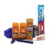 Mens Travel Toiletries Set ready in airport approved bag for hand luggage, all under 100ml