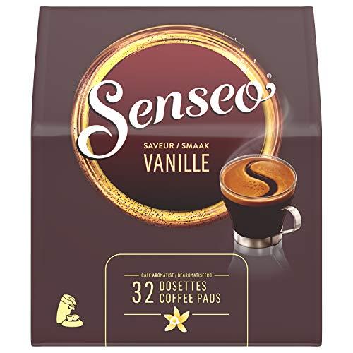 Senseo Kaffeepads Vanille, Vanillearoma, Kaffeepad für Pad Maschinen, Aromatischer Kaffee, 32 Pads