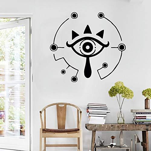 eikah Symbol Aufkleber Sheikah Eye Wandaufkleber Für Kinderzimmer Wandbild Zelda Spiel Poster Home Schlafzimmer Dekor 84 * 92 cm ()