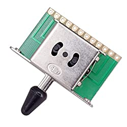 Homyl 5 Way Toggle Switch Pickup Selector With Black Knob For Fender Strat Guitar Replacement