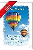 XXL Karte,Zum Abschied,Alles Gute für den weiteren Weg,A4 Format incl.Umschlag