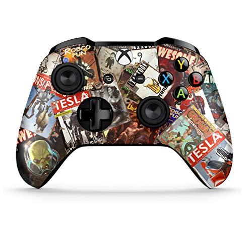 Xbox One S Wireless Controller Pro Konsole - Neueste Xbox Controller Bluetooth mit weichem Griff und exklusiver individueller Version Skin (Mag) (Bluetooth-xbox-controller)
