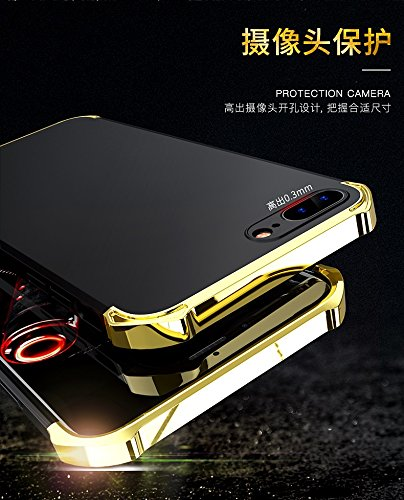 YHUISEN Mode 3 in 1 Heavy Duty High Impact Matte Plating Shockproof Anti-Drop PC Hard Schutzhülle für iPhone 7 Plus / iPhone 8 Plus ( Color : Blue Gold ) Gold