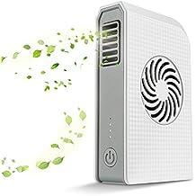 Ventilador portátil del banco de la energía Mini ventilador personal recargable de Skyocean con el cargador portable 6000mAh El mejor para viajar, pescar, acampar, ir de excursión, acampando, barbacoa, cochecito de bebé, picnic (White)