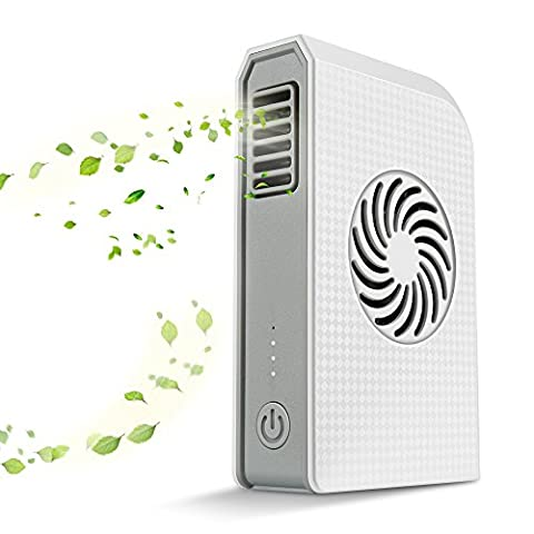 Small Personal Fan with 6000mAh Power bank, Mini Handheld USB Desk Fan with Portable Charger, Best using in Travel, School, office, Kitchen, outdoor sport, Camping Equipment. (White)