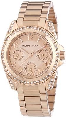 MICHAEL KORS MK5613 de cuarzo para mujer con correa de acero inoxidable, color rosa