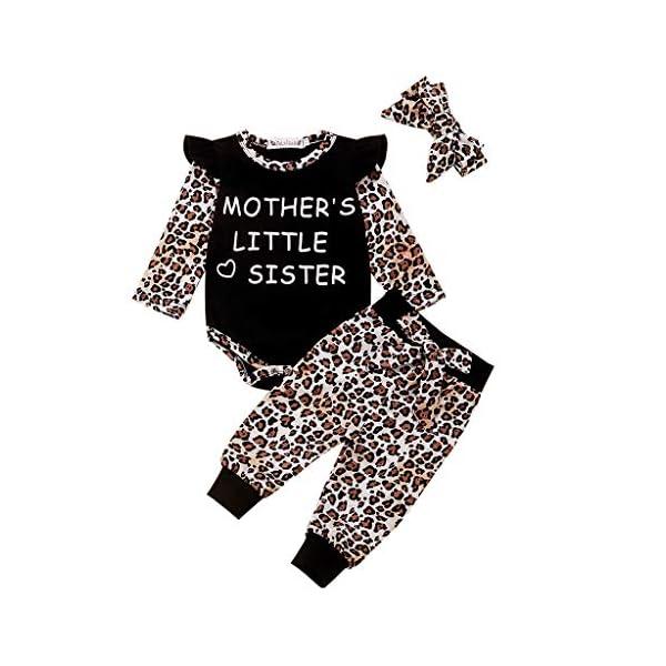 BBSMILN Ropa Bebe Niña Otoño Invierno 0 a 3 6 12 18 24 Meses de Recién Nacido - Leopardo Bodies de Manga Larga… 1