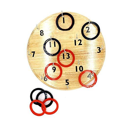 sanguiner Puzzle Ringtoss Spiel Dartscheiben Wand Gummi Holzspielscheibe für Papa oder Jungen Geschenke Outdoor-Spiele für die Familie - Und Zahlen Ganzen Von Subtrahieren Addieren