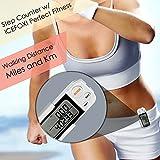 icefox® 3D Schrittzähler, mit Fitness AktivitätenZähler, bis zu 30 Tage speichert,ein akkurater Laufschrittzähler, ein Trainingszeiten- und Kalorienzähler, hält die tägliche Leistungen fest - 6