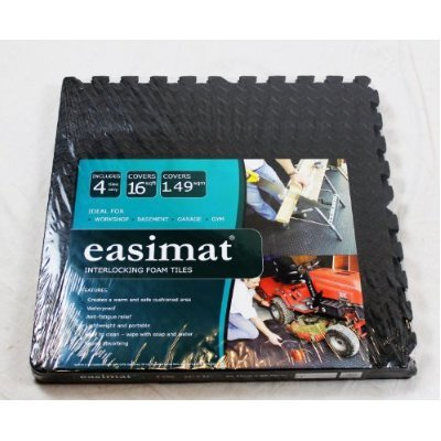 Interlocking Gym Garage Anti Fatigue Flooring Play Mats 32sqft D-Easimat Branded - low-cost UK flooring shop.