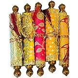 PartyStuff Ethnic Style Shagun Envelope (Multicolour) - Pack of 10