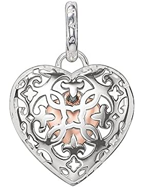 Thomas Sabo Damen-Anhänger Medaillon mit kleinem Herz innen 925 Silber - PE704-415-12