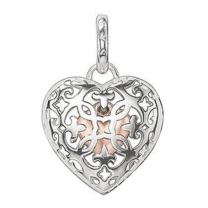 THOMAS SABO Damen-Anhänger Medaillon mit kleinem Herz innen 925 Silber – PE704-415-12