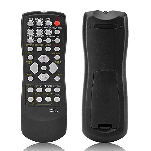 Zerone TV-Fernbedienung für YAMAHA RAV22, Fernbedienung Ersatz für Yamaha RAV22rx-v459rx-v357HTR5830rx-v357Smart TV - Yamaha Ersatz Fernbedienung