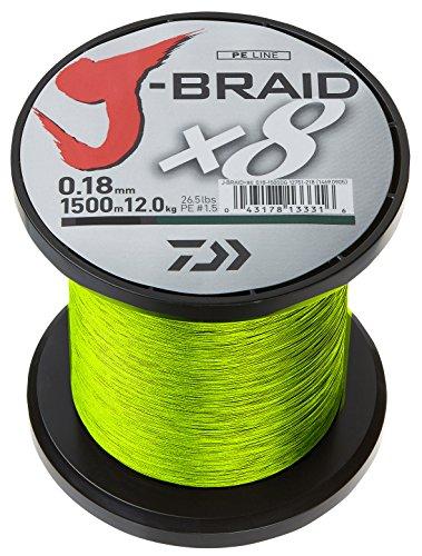Daiwa J-Braid X8 0.13mm, 8,0kg/18lbs, 1500m chartreuse - geflochtene Angelschnur