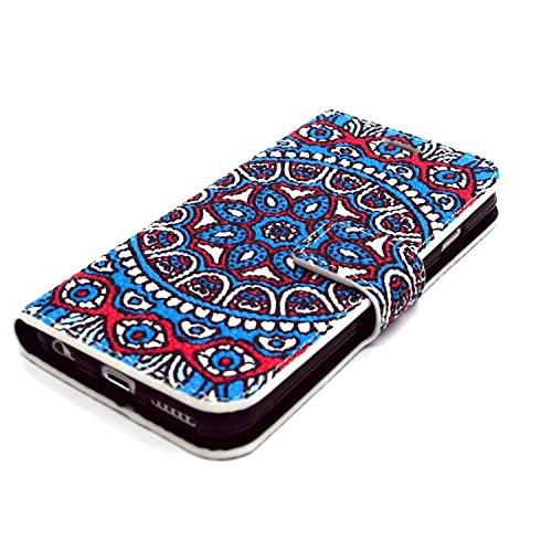 MOONCASE iPhone 6S Plus Coque Portefeuille [Porte-cartes] Modèle Case Housse en Cuir Etui à rabat avec Béquille pour iPhone 6 / 6S Plus (5.5 inch) -YX11 YX02