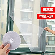 XXAICW Summary diy Self-adhesive type of insect-proof mesh screen Network Magic sand Windows mesh window screen mesh mosquito curtains window , White ,1.5x1.3m