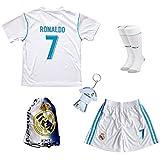 2017/2018 Real Madrid #7 Cristiano Ronaldo Heim Kinder Trikot Hose und Socken Kindergrößen (5-6 Jahre)