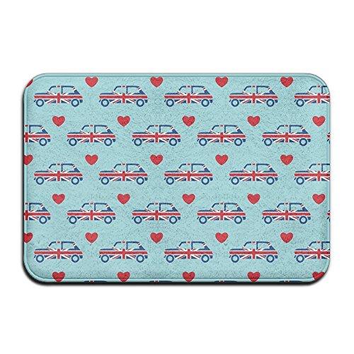 Cooper Herzen–Union Jack Auto Fußmatte Eingang Fußmatte funny Fußmatte rutschfeste Fußmatte Maschinenwaschbar