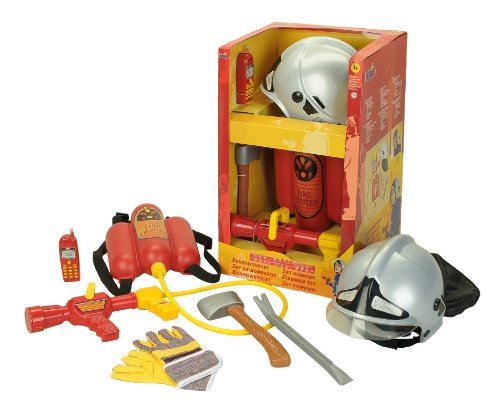 Theo Klein 8953 - Firefighter Henry Set Pompiere Con 6 Pezzi