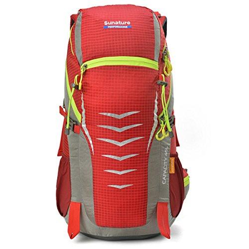 Outdoor Camping Rucksack Groß Kapazität Schulter Tasche Wandern Tasche Red