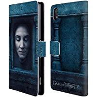 Official HBO Game Of Thrones Catelyn Stark Faces 2 Leather Book Wallet Case Cover For Sony Xperia Z2