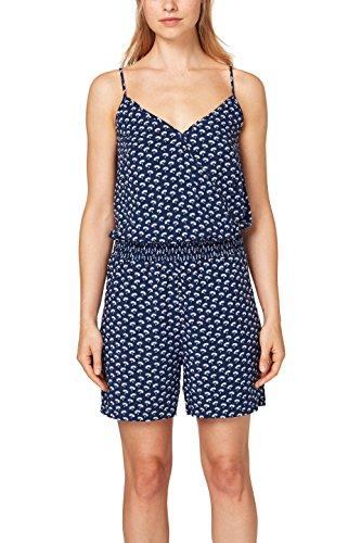 edc by ESPRIT Damen Jumpsuit 068CC1L001, Mehrfarbig (Navy 400), X-Large