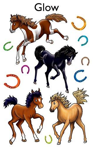 AVERY Zweckform 59253 Kinder Sticker Pferde (Leuchtmaterial) 12 Aufkleber