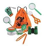 Amatt Outdoor Explorer Kit,11 Pack Kids Adventurer Exploration Outdoor Educational Equipment Toys Set