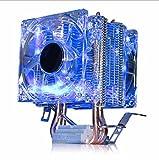 JHKJ Dual-Heat-Pipe-CPU-Kühler AMD Intel-Plattform Kompatibel (Ohne AM4),Blue