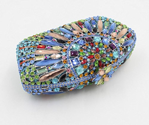 Lady Abendessenbeutel Kristall-Diamant-Diamant-Mappe Brautbeutel Handtasche Bankett-Paket color 1