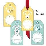 Kartenkaufrausch 80 niedliche Oster Geschenkanhänger   Geschenkkarten   Papieranhänger   Hänge Etiketten   Tags Format 5,5 x 11cm mit Osterhasen, Ostereiern zum Beschriften