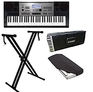 Casio Keyboard CTK-7300 With Stand, Keyboard Gig Bag & Dust Cover Complete Combo Pack.