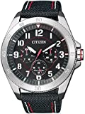 Citizen Herren-Armbanduhr XL Analog Quarz Textil BU2030-17E