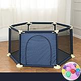 Laufgitter laufstall Portable Baby Laufstall Zaun Mit Bällen Home Indoor Outdoor Kids 6 Panel Sicherheit Spielplatz Yard (Color : Blue)