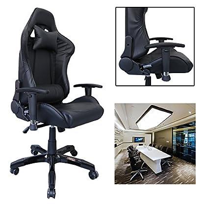 huigou HG Silla Giratoria De Oficina Gaming Chair Apoyabrazos Acolchados Silla Racing