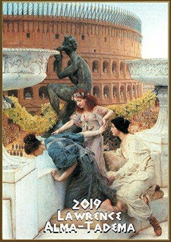 Pixiluv calendario da parete 2019[12pagine 20,3x 27,9cm] antico greco Roma scene di vita di Lawrence alma-tadema vintage pittura